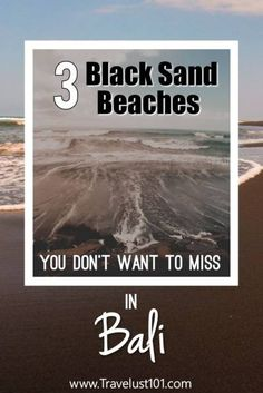 Bali is known for white sand beaches but did you know about volcanic black sand beach in Bali? Be sure to discover one on your next trip to paradise! Bali Travel Guide, Solo Travel Tips, Asia Travel, Travel Guides, Travel Advice, Travel Usa, Best Beaches To Visit, Singles Holidays, Single Travel