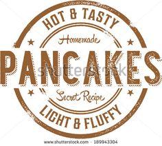 Breakfast Pancakes Vintage Style Stamp Sign