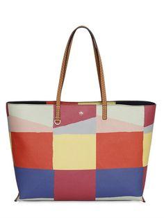 TORY BURCH Kerrington Print Grained Vinyl Tote Bag, Multi. #toryburch #bags #hand bags #lace #tote #