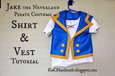 RisC Handmade: Jake the Neverland Pirate Shirt and Vest Tutorial