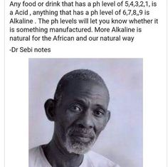 You heard the man. Be knowledgeable and accountable for what enters your body as well as your loved ones. #DrSebi #YouGoneLearnToday