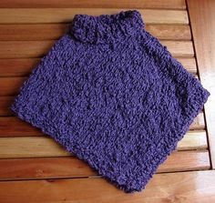 Easy Kids' Knit Poncho | Poncho knitting patterns, Kids ...