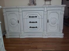 Sweetbriar Vintage Shabby Chic Buffet Dresser TV Console. $525.00, via Etsy.