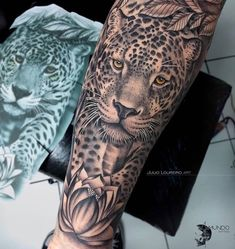 Exclusive art developed by repost ! Animal Sleeve Tattoo, Animal Tattoos, Sleeve Tattoos, Top Tattoos, Head Tattoos, Tattoos For Guys, Tattos, Tatoo Art, Lion Tattoo