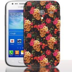 Coque Samsung Galaxy ACE 2 Rosea Skull. #Skull #i8160 #SamsungGalaxy #Ace2 #Phonecase