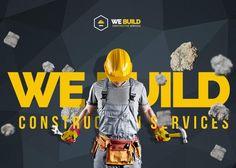 We Build - Construction, Building Premium WordPress Theme - Awwwards Nominee Construction Website, Construction Branding, Construction Business, Civil Engineering Projects, Company Profile Design, Building Logo, Best Web Design, Premium Wordpress Themes, Material Design
