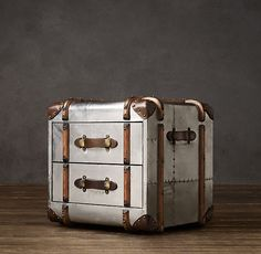 Richards' Metal Cube with Drawers-  Restoration Hardware
