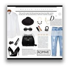 """Romwe"" by wxlfie ❤ liked on Polyvore featuring Dolce&Gabbana, Chanel, MANGO, Kate Spade, Gucci, MAC Cosmetics, Yves Saint Laurent, Bony Levy, Maison Margiela and Anja"