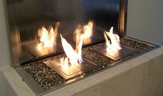 urban concepts fireplace and waterfall