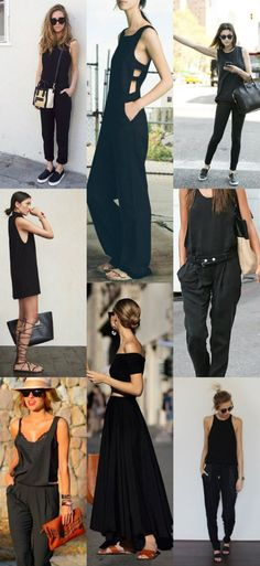 Uma ode ao look preto total e muitas maneiras de usar a cor, mesmo no...