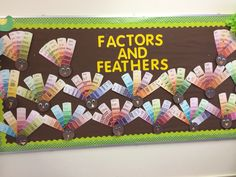 Thanksgiving Multiplication Turkey with paint strips! Students show fact…