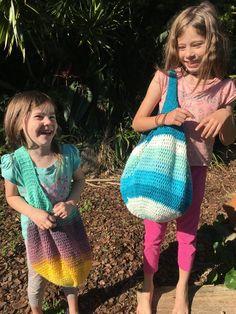 Crochet Marley Market Bag - crochet market bag, crochet bag, boho bag, hippy bag, ombre yarn, festival bag, mandala yarn, cakes yarn,