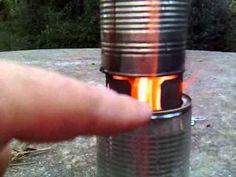 supervivencia / bushcraft. Hornillo de gas de madera.wmv