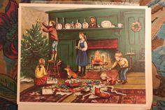 Original printing of a Tasha Tudor Christmas card
