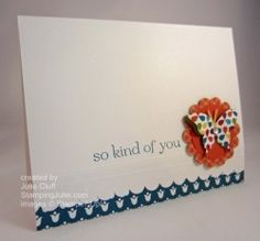 sweet sentiments butterfly thank you card