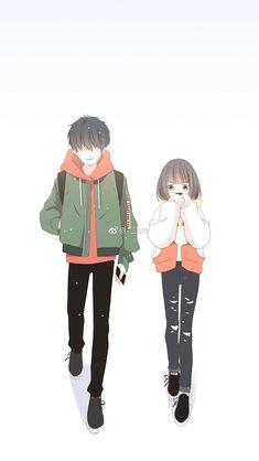 Anime Couples Manga, Chica Anime Manga, Cute Anime Couples, Kawaii Anime, Cute Couple Art, Anime Love Couple, Charlotte Anime, Chibi Couple, Couple Illustration