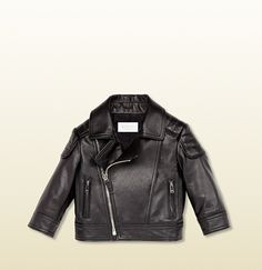 Gucci - leather asymmetric zip biker jacket 355777XN5211000 Designer Baby, Baby Design, Biker, Ready To Wear, Luxury Fashion, Gucci, Leather Jacket, Zip, How To Wear