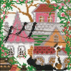 RIOLIS-Counted Cross Stitch Kit. Express your love for arts and crafts with these beautiful cross stitch kits! Find a themed kit for any taste! This package contains 16 count even-weave cotton fabric,