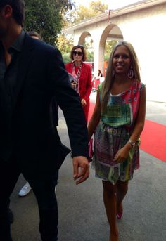 Giorgia Marin and Tom Welling leaving after the press conference of Parkland at the 70th Venice Film Festival, on 1 September 2013.