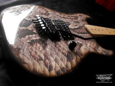 Custom Charvel Model 2 Style with Snakeskin Graphic by www.beyondcustomguitars.com