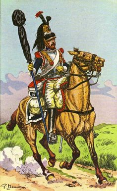 1st Empire French 5th Regt of Cuirassiers with Eagle