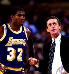 Magic Johnson and the great Pat Riley