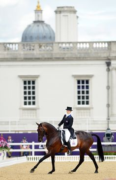 Lovely view of Eventing dressage at Greenwich Park.