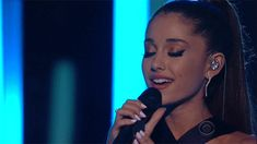 Pin for Later: 32 Times Stars Pulled on Your Heartstrings This Award Season Ariana Grande's performance had a waterworks theme.