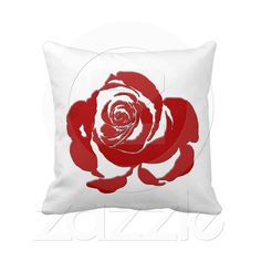 Red Rose American MoJo Pillows  Great pillow to add that splash of color to any room. Great for modern decor. Clean and crisp!