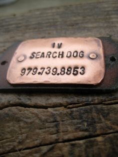 Hey, I found this really awesome Etsy listing at https://www.etsy.com/listing/177934823/dutiful-tails-riveted-copper-id-tag