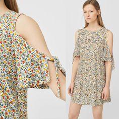 Đầm rớt vai Mango xuất chuẩn rất xinh size XS, S, M, từ 48kg đến 60kg in hoa nhí Quần áo bé gái Đầm khoét vai Mango, hàng VNXK. Chất vải thun cát mềm, mịn mượt, co giãn, mặc rất thoải mái. Sớ vải rất đẹp, nhìn giống hệt vải voan cát, chỉ khi sờ vào thấy mềm và co giãn mới biết là thun. Tay áo kiểu rớt vai, phom áo rộng suông, vải rũ ôm dáng tự nhiên, trông rất mềm mại và thanh lịch.