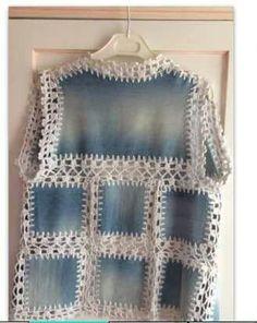 Fabulous Crochet a Little Black Crochet Dress Ideas. Georgeous Crochet a Little Black Crochet Dress Ideas. Débardeurs Au Crochet, Mode Crochet, Crochet Quilt, Crochet Woman, Crochet Blouse, Crochet Vests, Crochet Granny, Sewing Patterns Free, Free Pattern