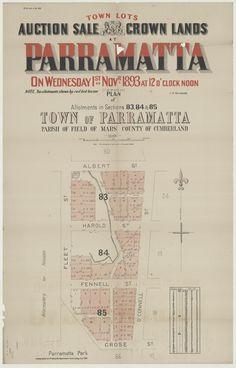 1893 subdivision plan of North Parramatta.