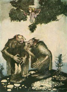 Иллюстратор Gustaf Tenggren.Сказки братьев Гримм.Страна США, Швеция.Год издания 1923..Источник иллюстраций animationresources.org.............................................................