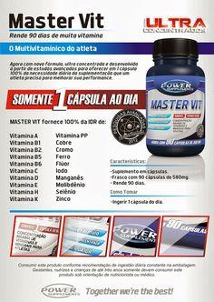 MasterVit - Polivitamínico Multivitamínico - Power Supplements