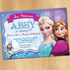 Frozen Invitation  Frozen Birthday Invitation  by PrintMeParties, $7.99