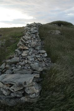 Historic Rock Walls in Grates Cove, Newfoundland, Canada Newfoundland Canada, Newfoundland And Labrador, Wilderness Trail, The Rock, Genealogy, The Good Place, Around The Worlds, Walls, Ocean