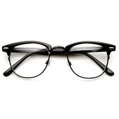 Vintage Half Frame Semi-Rimless Horn Rimmed Style Classic Optical RX Sunglasses