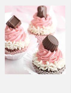 Neapolitan Bonbon Cupcakes...valentine cupcakes