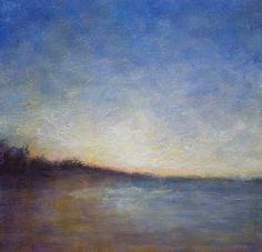 Landscape Painting Pacific Coast - Winter Beach