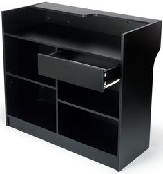 48 x 42 x 18-Inch, Free-Standing Black Melamine Register Stand
