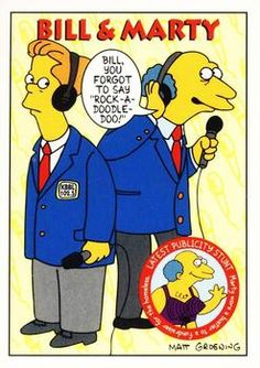 1993 SkyBox the Simpsons #S31 Bill & Marty Front