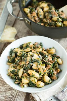 Spicy Sausage, Spinach and Mushroom Gnocchi