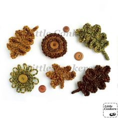 Brooches in 93% recycled wool with vintage buttons: http://etsy.me/11DL2oM #ecocreatehour