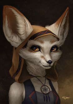 ArtStation - Hark the Vulpera commission, Becky Watson Fox Character, Character Portraits, Character Concept, Character Design, World Of Warcraft Characters, Dnd Characters, Fantasy Characters, Female Fox, Tomb Raider Cosplay