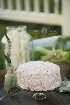 Vintage Weddings  |  Beach Weddings  |  Rosette Wedding Cake  |  Aislinn Kate Photography + Hemstitch Vintage Rentals  (Pensacola Weddings)