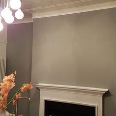 Dulux Warm Pewter, Interior Design Living Room, Living Room Decor, Dulux Paint, House Painting, Kitchen Cabinets, Kitchen Ideas, Gray, Bathroom