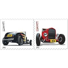 Hobby Stamp Collecting Products - Hot Rod Stamps Booklet of 20 x Forever US Postage Stamps USPS NEW *** Click on the image for additional details.