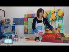 Abstracto!!! Diferentes tecnicas y texturas para realizar cuadros abstractos!!! - YouTube