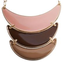 $14.95 Bijou Brigitte  Kette - Brown Elements